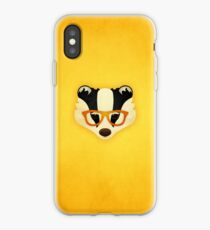 Hipster Badger: Gold iPhone Case