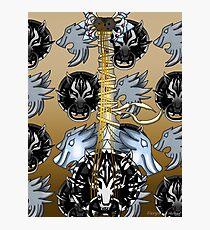 Fusion Keyblade Guitar #38 - Fenrir & Sleeping Lion Photographic Print