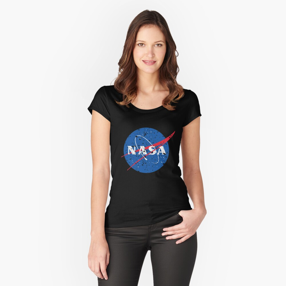 official NASA meatball logo Fitted Scoop T-Shirt