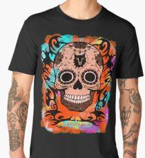 SKULL CULT ORANGE II Männer Premium T-Shirts