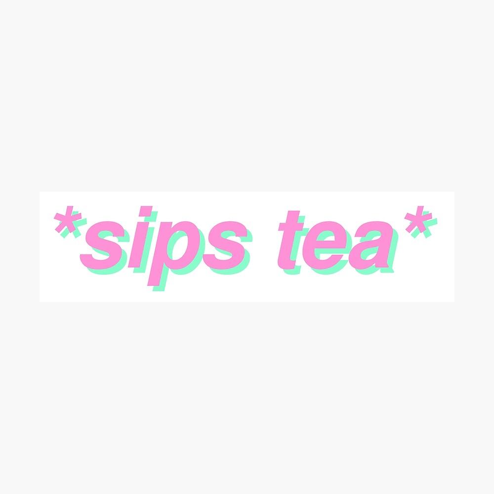 sips tea Photographic Print