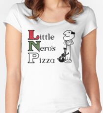Little Nero's Pizza Women's Fitted Scoop T-Shirt