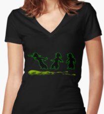 Spitting Largo Women's Fitted V-Neck T-Shirt