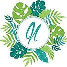 Monogramm-Buchstabe N | Personalisiert | Tropisches Design von PraiseQuotes