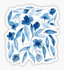 Prussian Floral Sticker