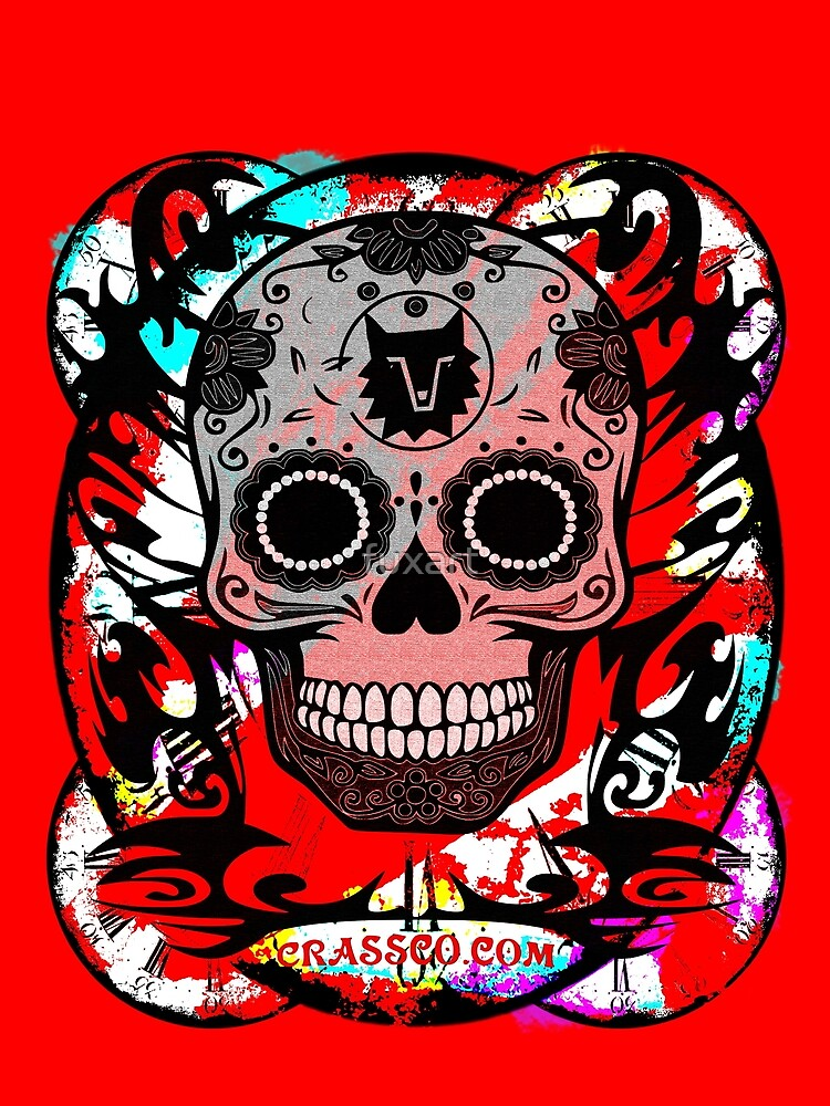 SKULL CULT RED II by fuxart