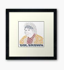 Doc Brown BTTF Framed Print