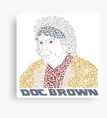 Doc Brown BTTF Canvas Print
