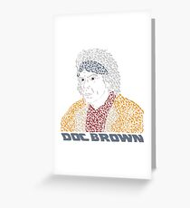 Doc Brown BTTF Greeting Card