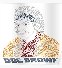 Doc Brown BTTF Poster