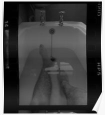 Portrait in the bath HP5 Poster