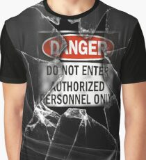 Do Not Enter Broken Glass Graphic T-Shirt