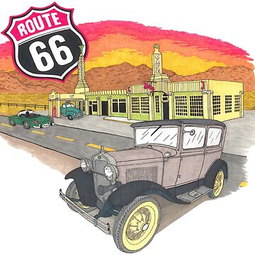 Route 66 Sunset Design by JaMiHo1981