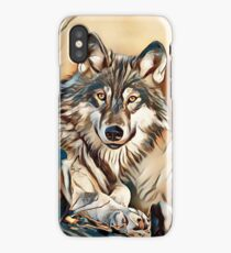 The Grey Timber Wolf iPhone Case