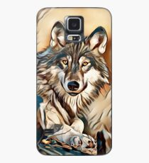 The Grey Timber Wolf Case/Skin for Samsung Galaxy