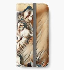 The Grey Timber Wolf iPhone Wallet/Case/Skin