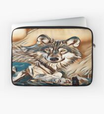 The Grey Timber Wolf Laptop Sleeve