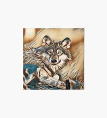 The Grey Timber Wolf Art Board
