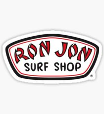 Ron Jon Surf Shop Black Red White Sticker
