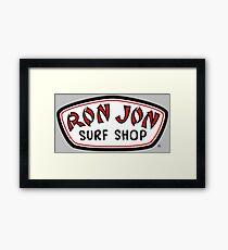 Ron Jon Surf Shop Black Red White Framed Print