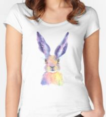 Rainbow Hare Women's Fitted Scoop T-Shirt