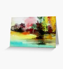 Lake in colours Greeting Card