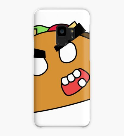 angry zombie taco Case/Skin for Samsung Galaxy