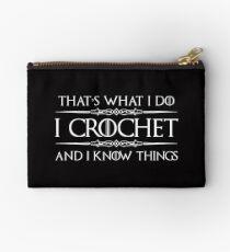 Crochet Gifts for Crocheters - I Love Crocheting Studio Pouch
