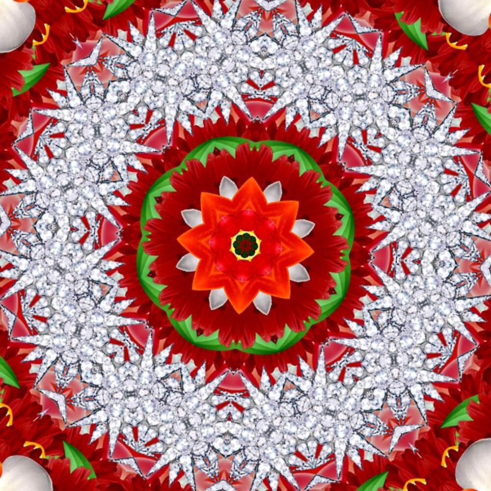Holiday  Mandala 1 by Gretchen  Mueller Steele