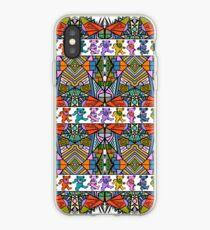 Grateful Dead Bears Trippy Pattern Vintage Colors  iPhone Case