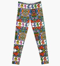 Grateful Dead Bears Trippy Pattern Vintage Colors  Leggings