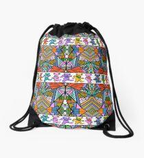 Grateful Dead Bears Trippy Pattern Vintage Colors  Drawstring Bag