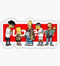 Supreme Simpson Sticker
