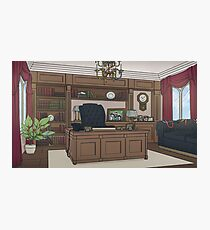 Tattered Weave Backgrounds: Headmaster's Office Photographic Print