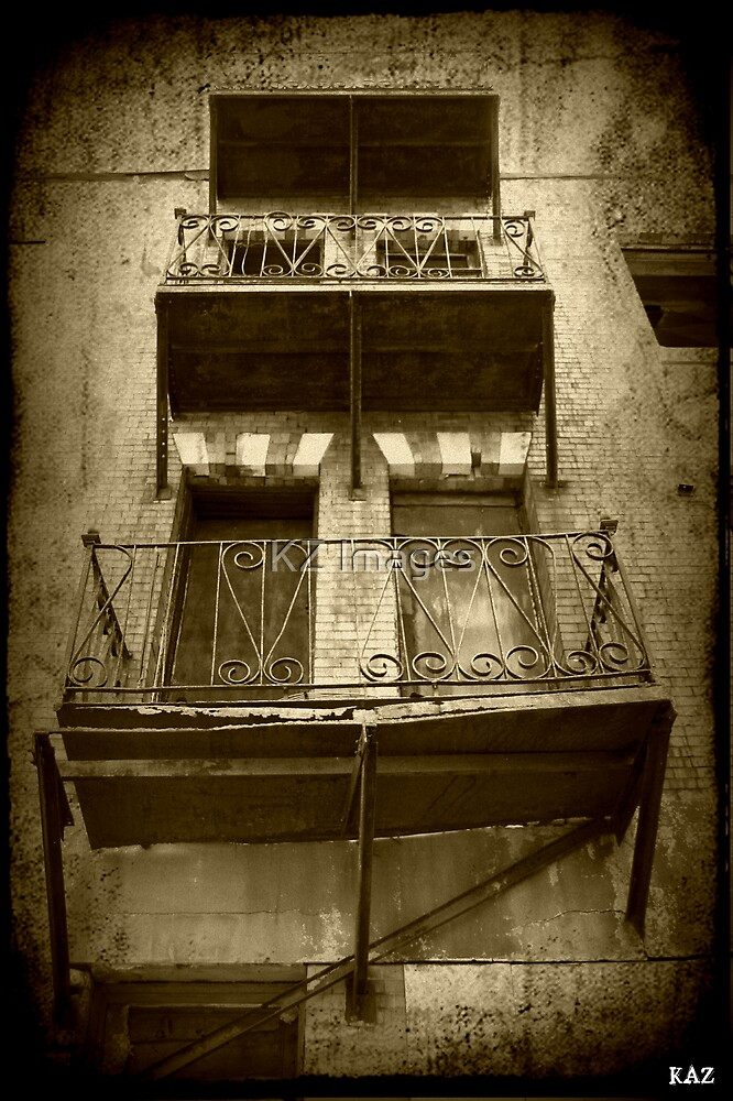 Busted Balcony by KZ Images