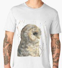 Watercolor owl Men's Premium T-Shirt