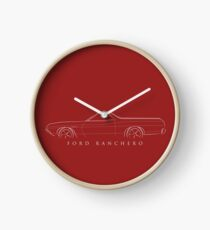 1972 Ford Ranchero - profile stencil, white Clock