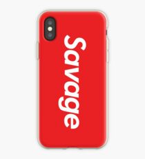 Vinilo o funda para iPhone Savage Supreme Parody