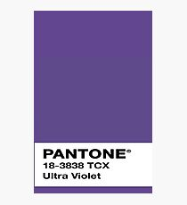 Pantone Colour of the Year 2018 ULTRA VIOLET Swatch Photographic Print