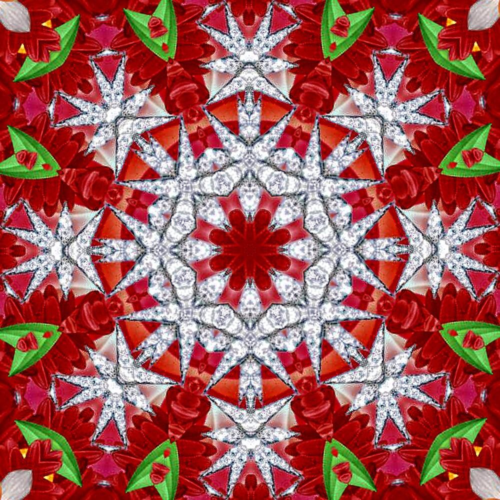 Holiday Mandala 5 by Gretchen  Mueller Steele