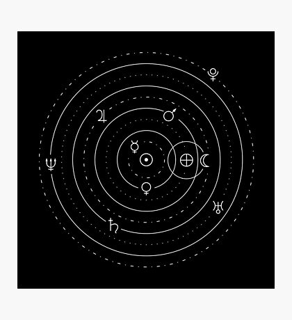 Planets symbols solar system Impression photo
