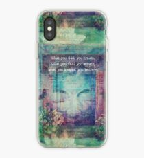 Inspiring Buddha quote about positive thinking iPhone Case