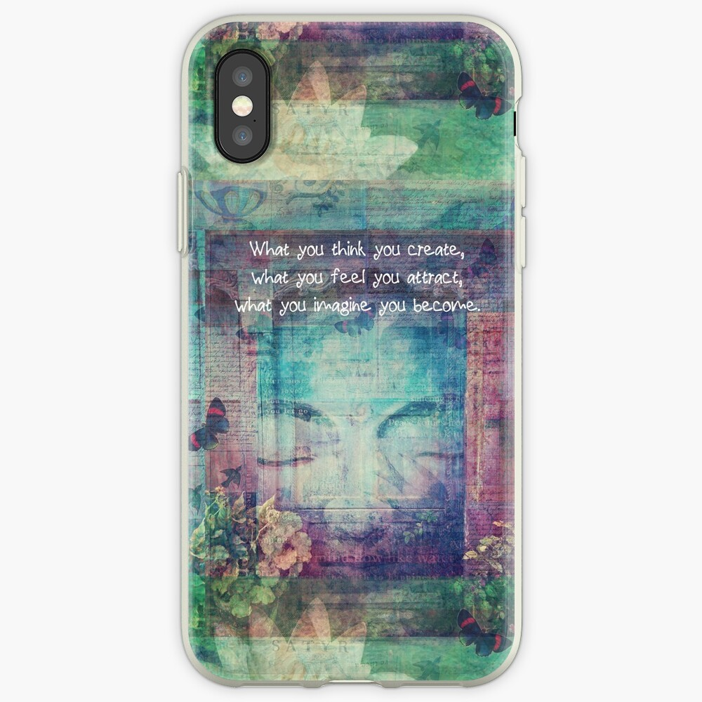 Inspiring Buddha quote about positive thinking iPhone Cases & Covers