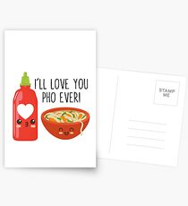 I'll Love You Pho Ever Postcards