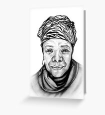 Maya Angelou - Original Pencil Portrait Greeting Card