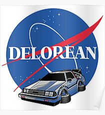 DELOREAN SPACE Poster