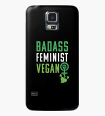 Funda/vinilo para Samsung Galaxy Feminista vegana: puño feminista badass vegano