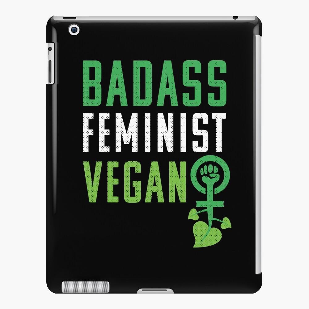 Feminista vegana: puño feminista badass vegano Funda y vinilo para iPad