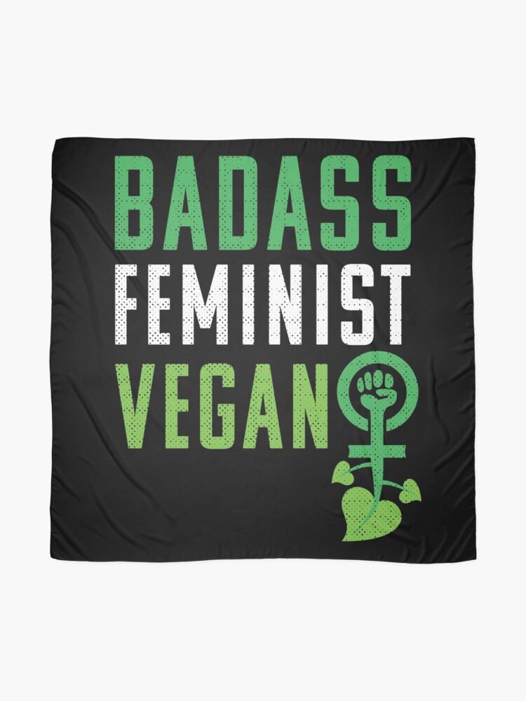 Vista alternativa de Pañuelo Feminista vegana: puño feminista badass vegano