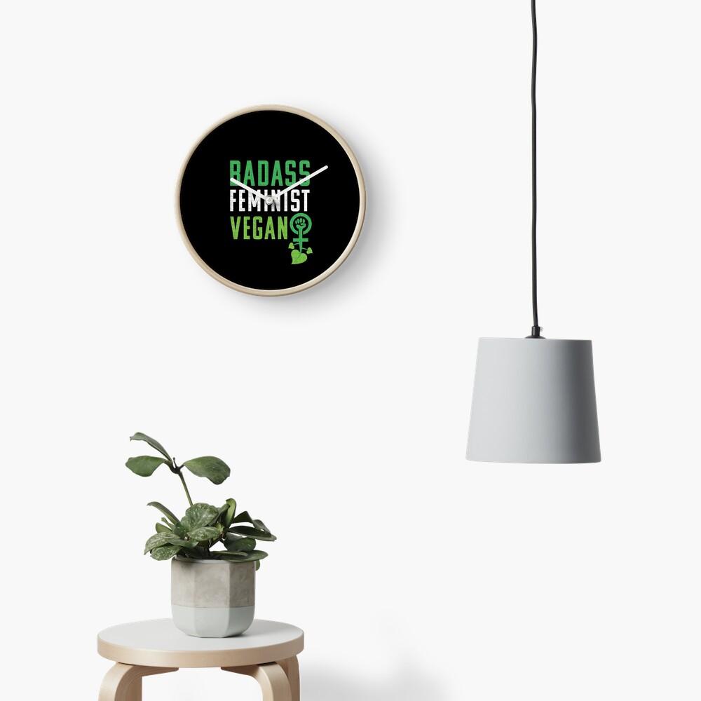 Feminista vegana: puño feminista badass vegano Reloj